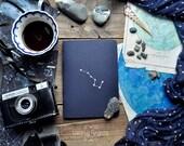 "Deep Blue notebook-sketchbook with a carved pattern - constellation ""Ursa Major"""