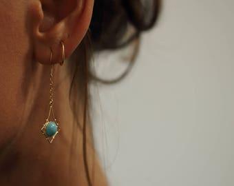 Bohemian earings in Gold Filled 14k