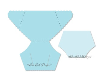 Diaper Card Template SVG File PDF / dxf / jpg / png / eps / ai / fcm, scal3, mtc, for Cameo, Cricut Explore & other electronic cutters