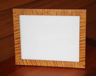 "8"" x 10"" Tiger Curly Maple Picture Frame with glass"