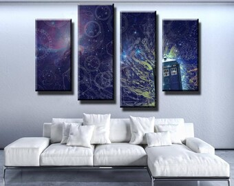Doctor Who Abstract Canvas Set Abstract Wall Decor Abstract Canvas Set Abstract Wall Print Doctor Who Wall Decor Doctor Who Canvas Set