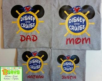 Disney Cruise Personalized Family Shirts, Disney family shirts, Disney family trip, Disney family vacation, Personalized shirts