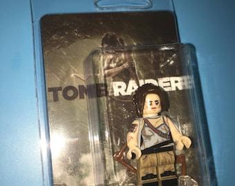 TOMB RAIDER Lara Croft PS3 PS4 Xbox Custom Video Game Minifigure