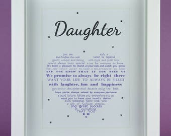 Daughter Gift, Daughter Birthday gift, Mother Daughter gift, Father Daughter gift, Gift from Mom and Dad, Parent gift, Daughter's 16th