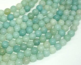 Amazonite Beads, 8mm(8.3mm) Round Beads, 15 Inch, Full strand, Approx 47 beads, Full strand, Hole 1mm (111054032)