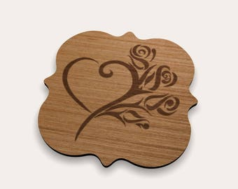 Heart and Roses Coaster 262-162 (Set of 4)