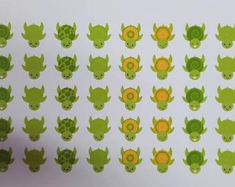 Cute Sea Turtle Stickers! 45 stickers! Great for Erin Condren, Filofax, Kikki.K, or Plum Paper Planners (244)