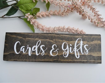 Cards and Gifts Sign | Wedding Cards and Gifts Sign | Wood Cards and Gifts Sign | Wooden Cards and Gifts Sign | Rustic Cards and Gifts Sign