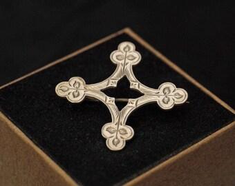 Antique Victorian Costume Cross Brooch