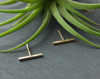 Gold Bar Earrings, Tiny Bar Earrings, Bar Earrings, Bar Studs, Tiny Bar Studs, Gold Filled Bar Studs,