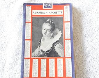 Free Ship. 1956 - Antique French Almanach Almanach Hachette