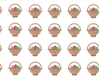 Easter Egg Stickers, Easter Basket Stickers, Easter Stickers, Easter Treats, Easter Eggs