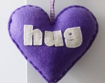 Aime faire un câlin - décoration de coeur Violet Love