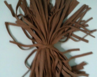 80 MIll Dyed  Wool Rug Hooking Strips  Cinnamon Latte