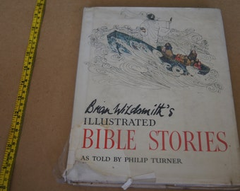 Vintage 1960s - illustrated bible story brian wildsmith  told by philip turner - 1968 - Religious Book