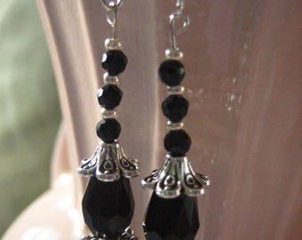Black Crystal Victorian Drops