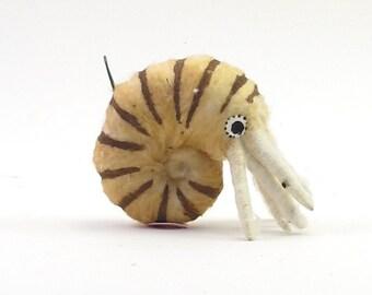 Spun Cotton Vintage Inspired Nautilus Ornament/Figure (MADE TO ORDER)