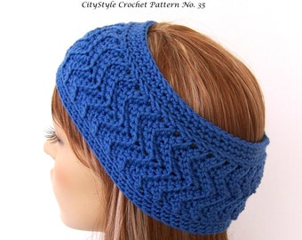 Crochet Pattern Headband, Chevron Headband, Headband Pattern, Crochet Headband, Womens Headband, Teen Headband, Crochet Zig Zag, Headwrap