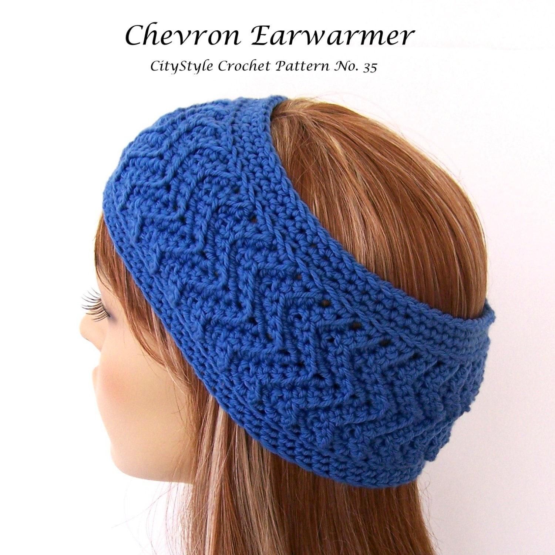 Crochet Pattern Headband Chevron Headband Headband Pattern