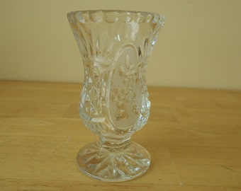 "Footed Lead Crystal Vase, 2-3/4"" Diameter x 4-3/4"" Tall"