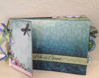 Frog and dragonfly Paper Bag Album