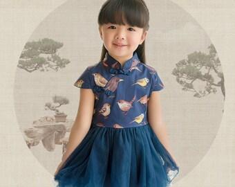 Cheongsam Tutu Dress for Kids Chinese New Year