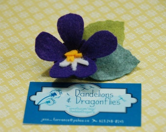 Birth Flower Hair Clip - February Violet