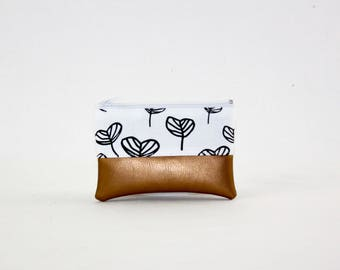 Mini bag - copper sheets, bag, cosmetic bag, purse, make-up bag, vegan, minimalist, pouch, pencil case,.
