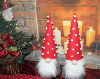 Gnome, Gnomes Set of 2,  Home decor, Nordic Gnome, Scandinavian Gnome, Christmas Gnome, Gift, Christmas decoration, Swedish Gnome