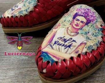 Women's leather sandals. Mexican huarache sandals.