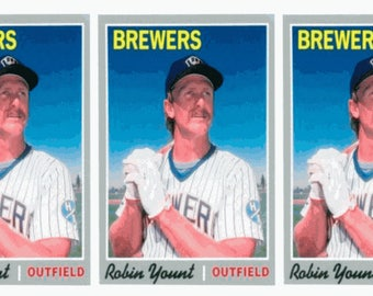 3 - 1992 Baseball Card Monthly #46 Robin Yount Baseball Card Lot Brewers