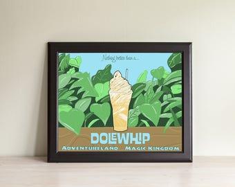Pineapple Dole Whip Float- Pineapple Soft Serve- Art Print- Disney Art- Disney Treats- Adventureland- Disney World- Disneyland- Wall Art