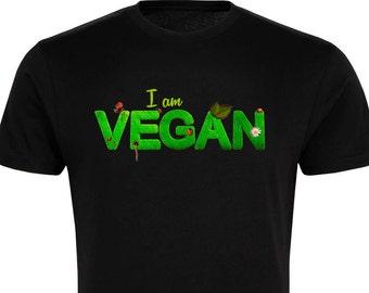 I Am Vegan - T-Shirt - Free UK Delivery