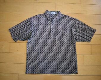 Mens Vintage Short Sleeve Polo Shirt