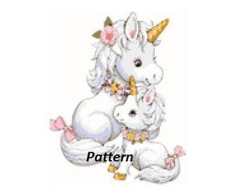 Baby unicorns. Cross Stitch Pattern. PDF Files.