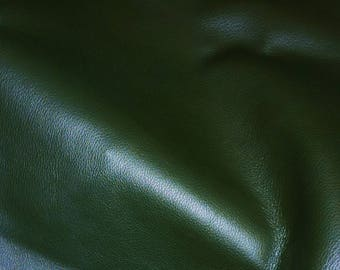 "Leather 12""x12"" Duchess FOREST GREEN (a thinner KING) Cowhide 2.25-2.75 oz / 0.9-1.1 mm PeggySueAlso™ E2080-07"