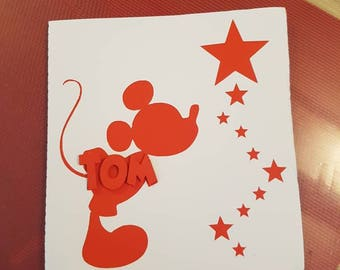 Mickey birth announcements