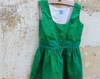 Vintage 1970/70s Authentic Girl Dirndl Tyrol Austria German Floral Dress  size 6/8 years