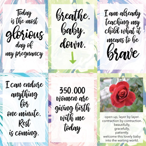 14 Printable Birth Affirmation Cards