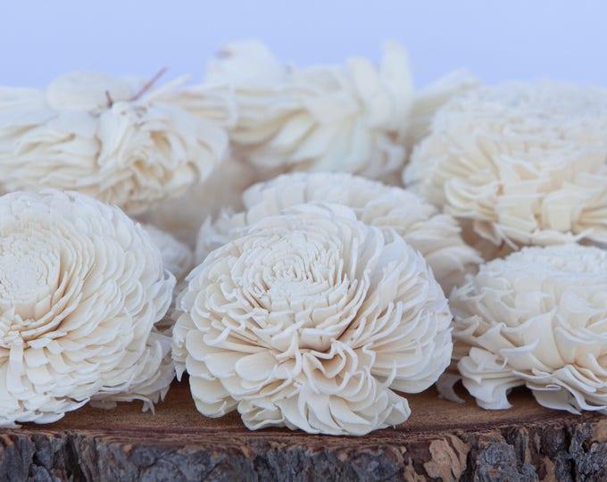 Large Chorki Sola Flowers - SET OF 10 , Sola Flowers, Wood Sola Flowers, Chorki Sola, Balsa Wood Flowers, Wedding DIY, Flowers for Crafting