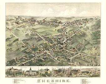 Vintage Map - Cheshire, Connecticut  1882
