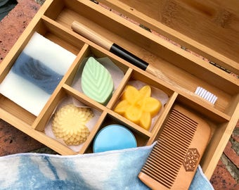 Bamboo Bento Plastic-Free Travel Toiletry Set - Native - Vegan