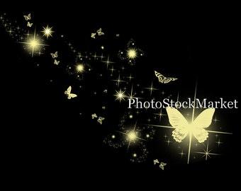 Butterfly Sparkles Overlay - Photoshop overlay - Magic Dust - Sparkling lights overlay