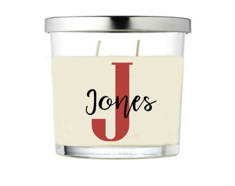 Candle Monogram - Mothers Day Gift
