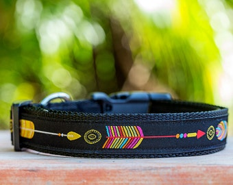 Aztec Arrows Dog Collar / Tribal Dog Collar / Dog Collars Australia / Southwestern Dog Collar
