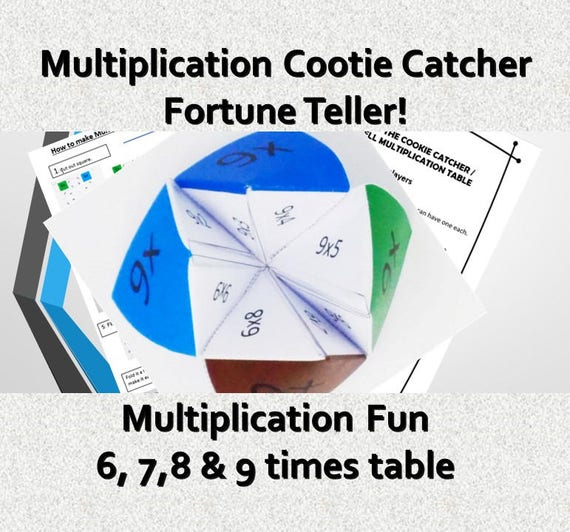 Printable Cootie Catcher Template Year  Grade