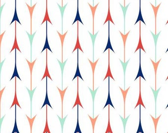 Pachua -White Arrows -3 Wishes-Cotton Fabric- Quilt- Apparel-WindyRobinCotton- *Sold in Half Yard.