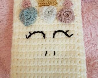 Unicorno Crocheted Pouch