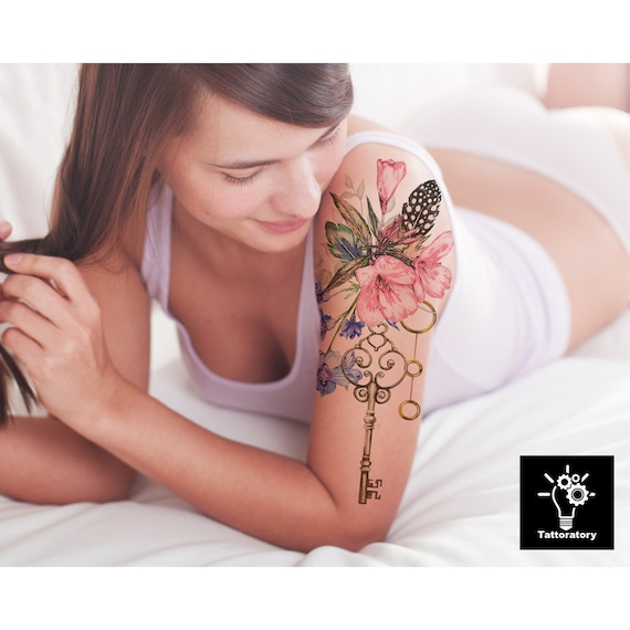 aquarell tempor re tattoo aquarell blumen tattoo aquarell. Black Bedroom Furniture Sets. Home Design Ideas