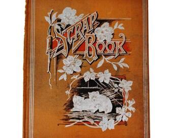 Antique Victorian Scrapbook Cover with Kitten Design, Great Decorative Piece